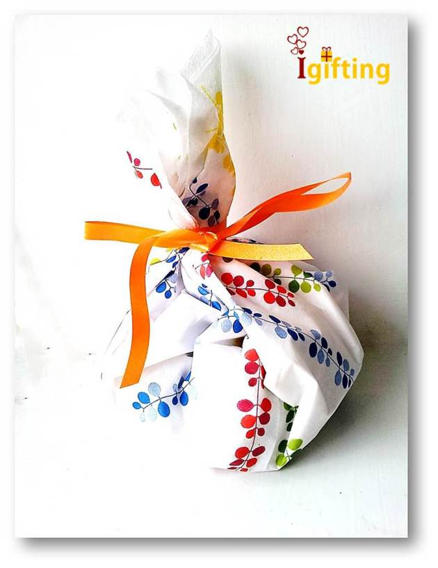 A creative way to wrap a gift