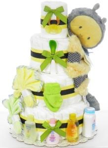 isn't bumble bee diaper cake cute