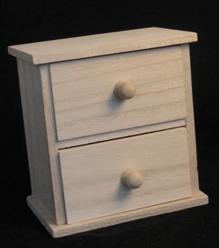 a painted mini drawer chest