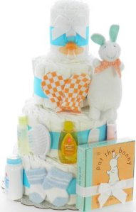 a diaper cake is the perfect baby shower gift