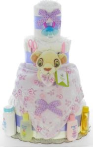gift a diaper cake to a new mom