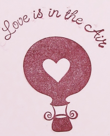 Love is in the air Valentine's Day card