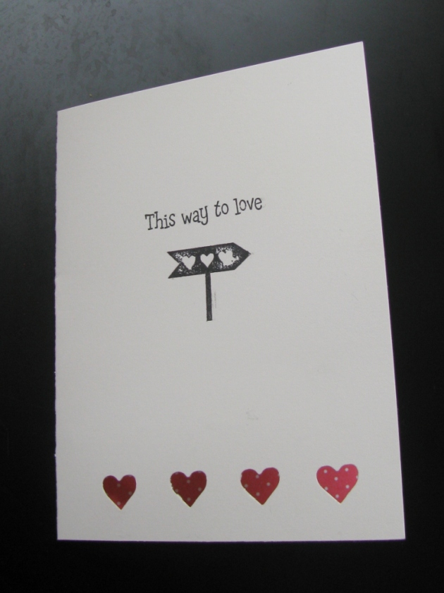Sim ple and sweet valentine's day card
