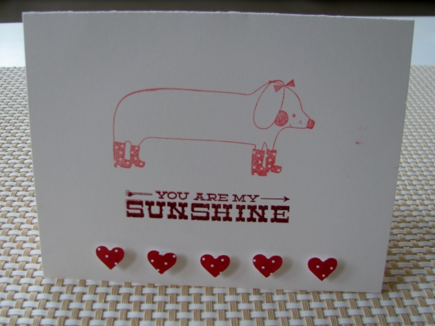 You are my sunshine card Valentine
