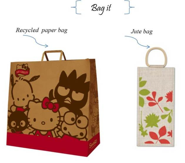recycled hello kitty paper bag