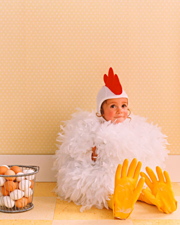 adorable Spring chicken costume