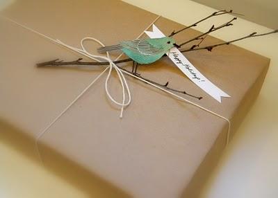 a cute birdie gift wrap