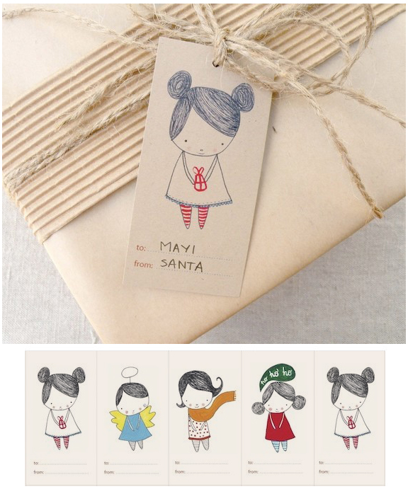 cute gift tags by Kelly Murray