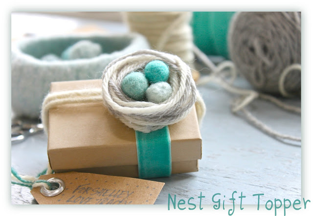 Gift wrapping ilovegifting with easter around the corner this nest of yarn gift topper is perfect for wrapping up easter goodies negle