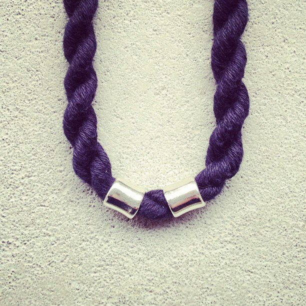 twisted wool necklaces