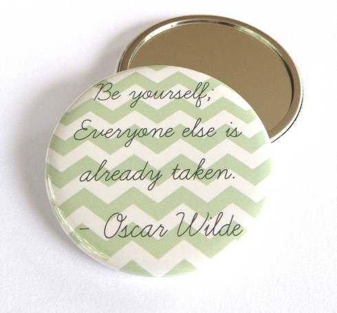 Oscar Wilde pocket mirror gift for book lovers