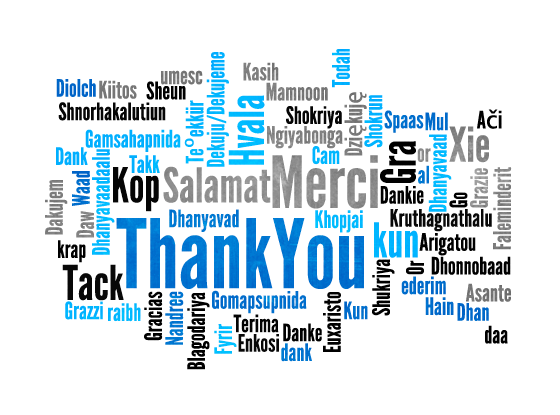 Thank you gifts - saying thanks in different languages
