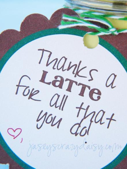 Thank you gifts - Thanks A LatteTag