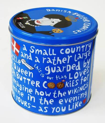 Edible gifts - blue tin of Danish butter cookies
