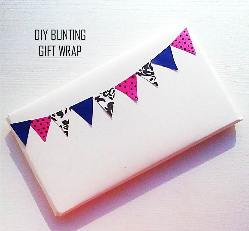Do it yourself ilovegifting bunting gift wrap solutioingenieria Image collections