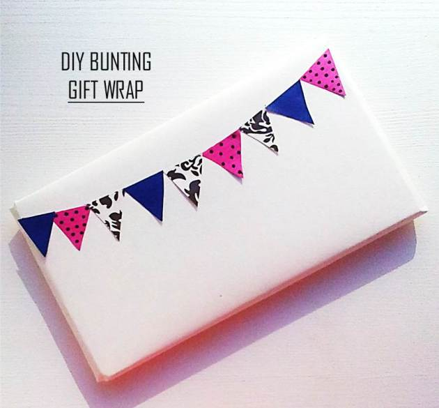 Bunting gift wrap