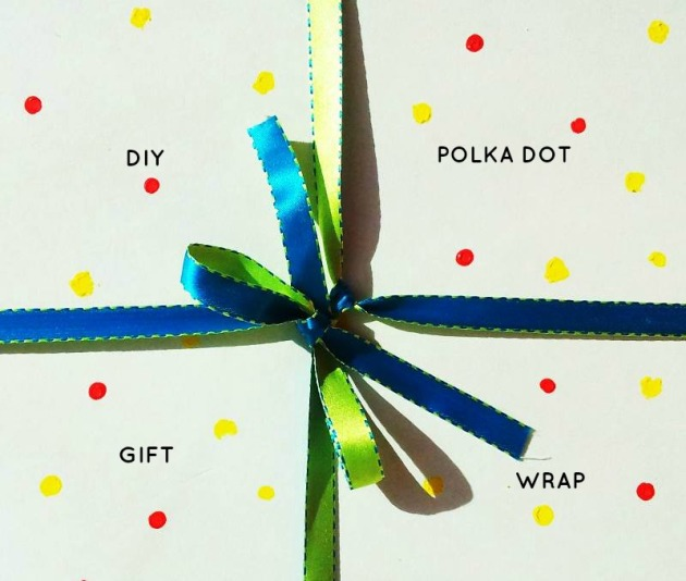 Simple polka dot gift wrap