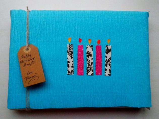 DIY Candle gift wrap idea