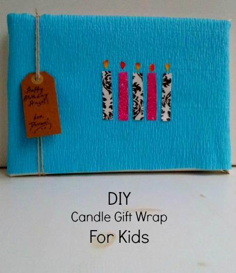Candle gift wrap idea